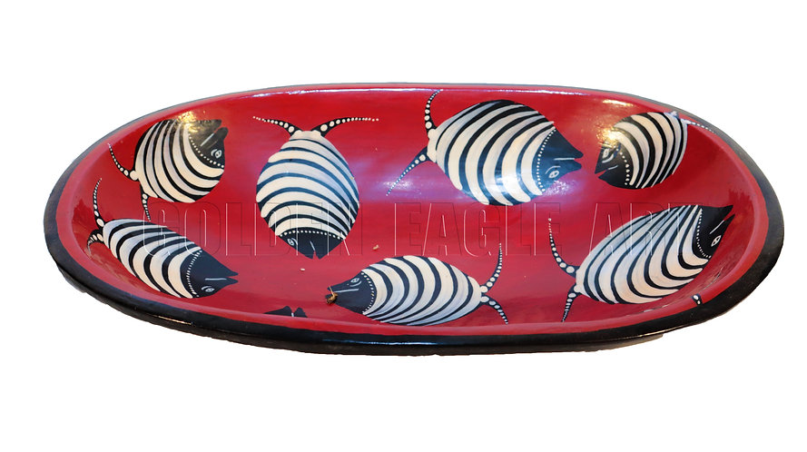 Oval African heritage colored bowl