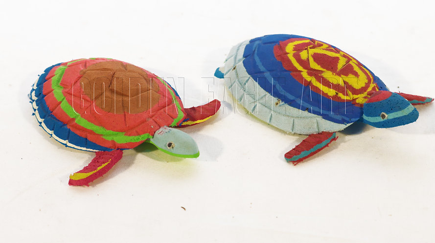 Recycled flipflop tortoises