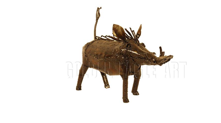 Recycled metal warthog