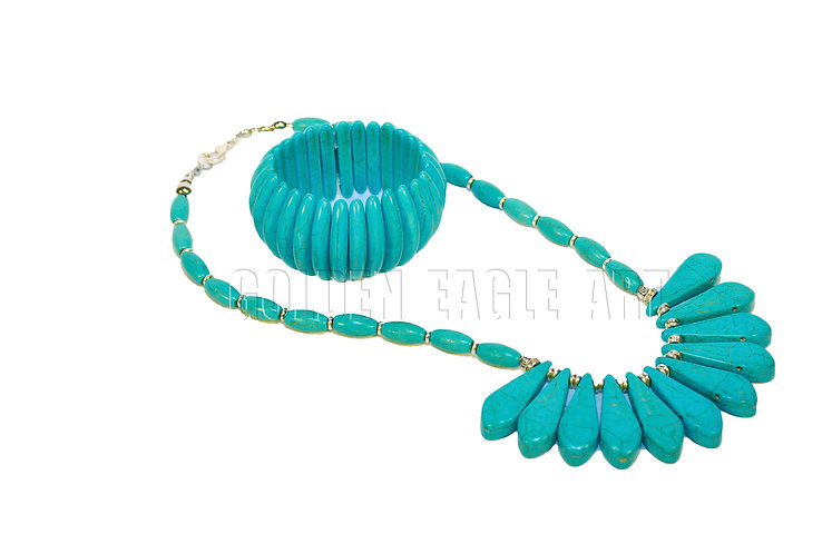 Takwise stone necklace set