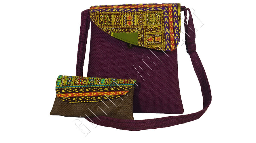 Laptop purse with single clunch bag