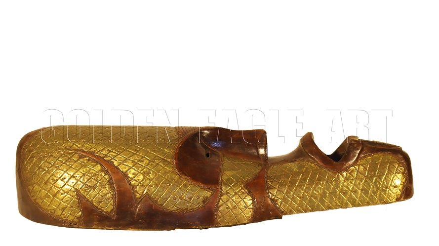 Brass decorated traditional wealth mask