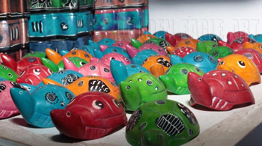 Soapstone tortoises
