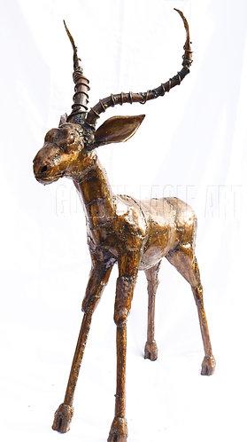Recycled metal  garden gazelle