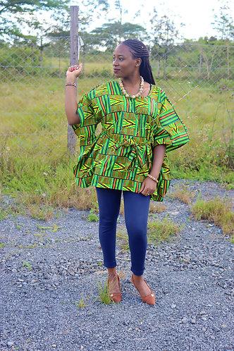 African kitenge top