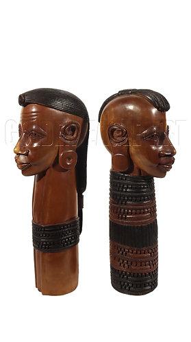 Rosewood maasai neck busts