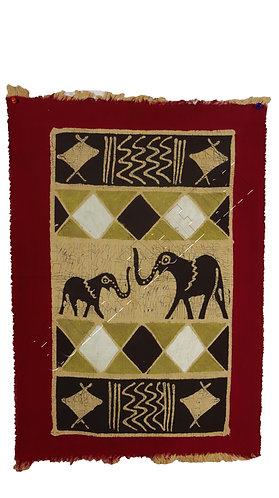 Zimbabwe Batik table cloth with Elephants painting