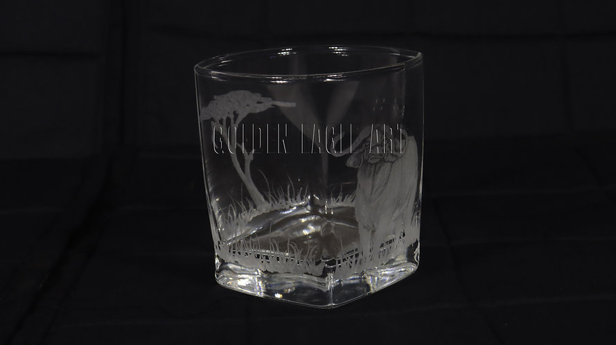 Engraved squire whisky glasses