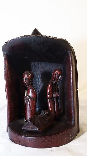 Soft wood holy family set