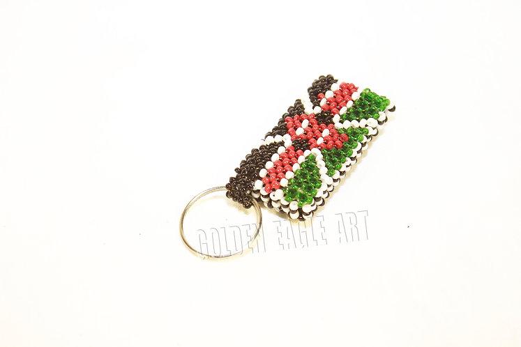 Kenyan flag key ring