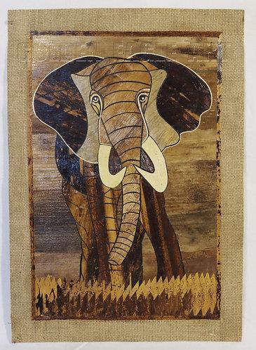 Banana mosaic painting