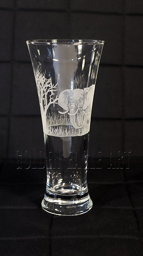 Engraved  water glass