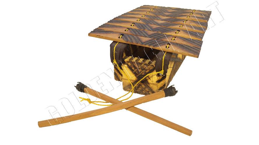 African musical marimba