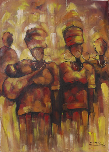 Cultural abstract oil painting on canvas