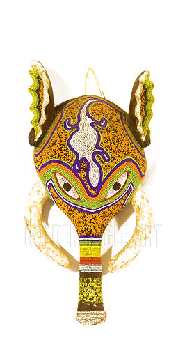 Traditional African beaded elephant mask