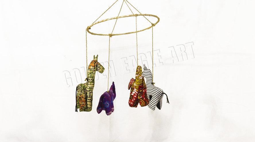 Fabric animal mobiles