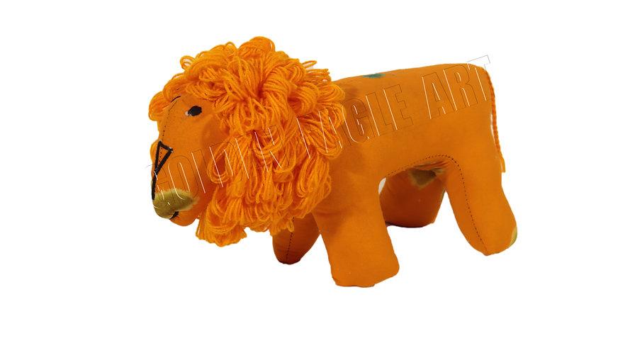Small fabric lion