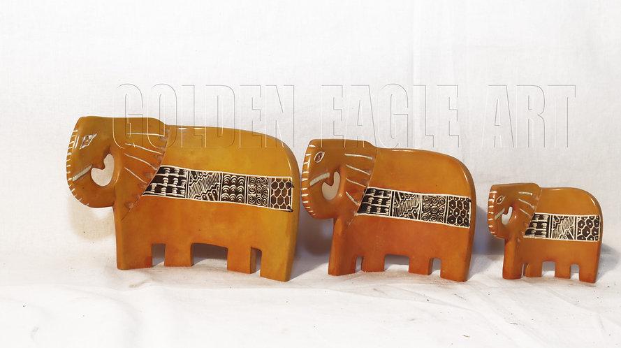 A set of soapstone serviet holders