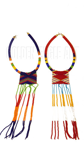 Maasai color necklaces