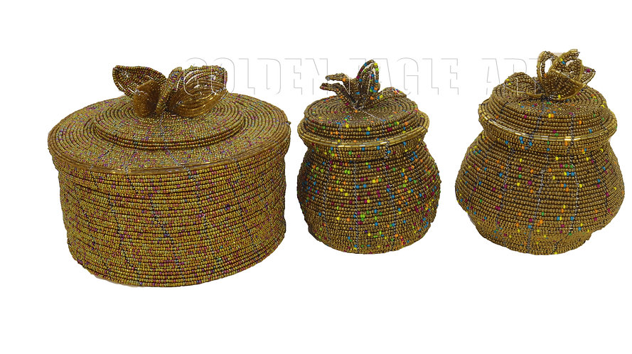 Beaded treasure containers