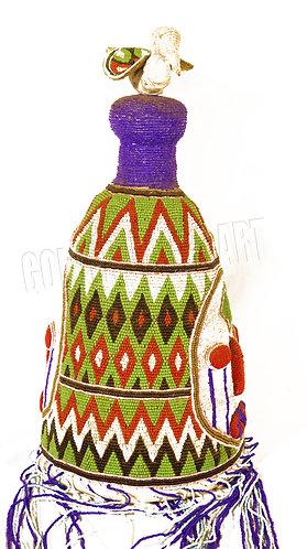 Traditional antique Yoruba hat