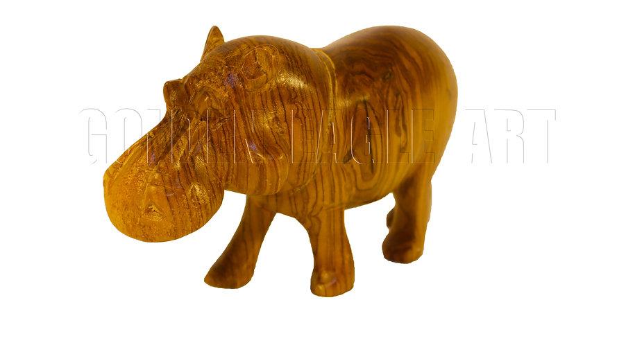 Medium olive hippo