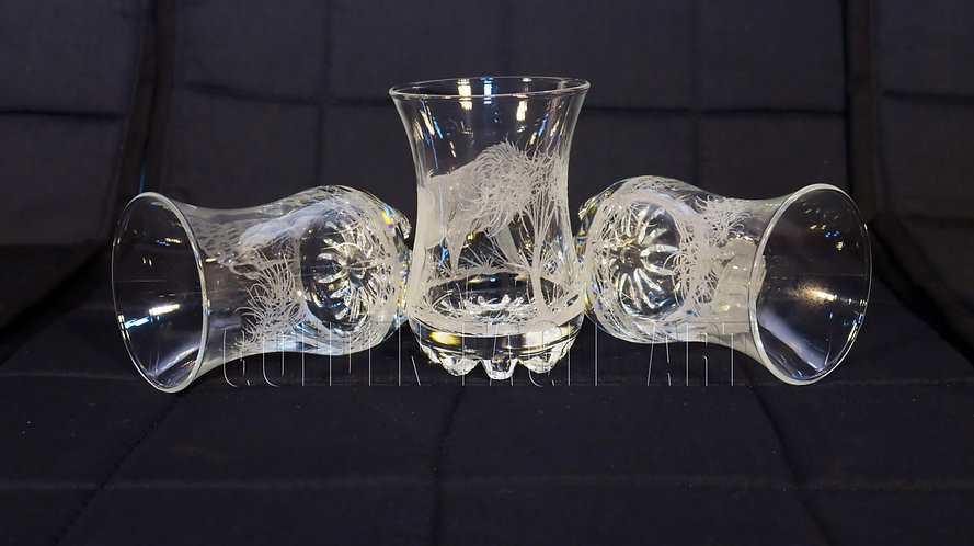 Engraved juice glasses