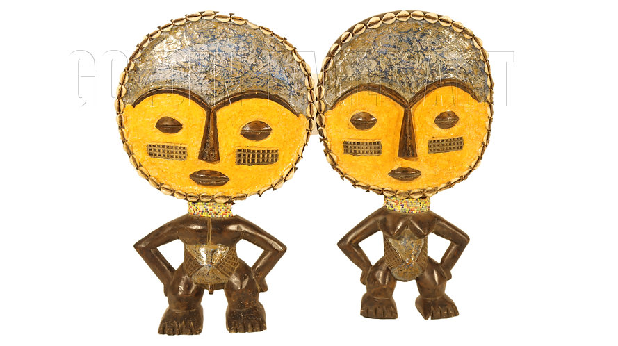 A pair of traditional ashanti dolls