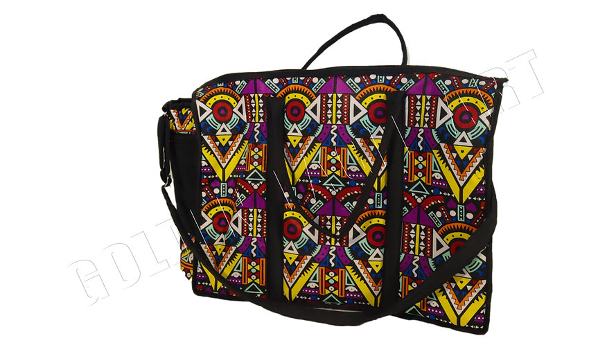 Kitenge fabric woven travelling bag