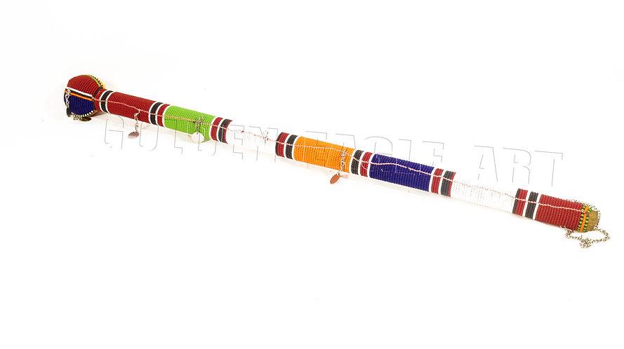 Maasai beaded wisdom stick (RUNGU)