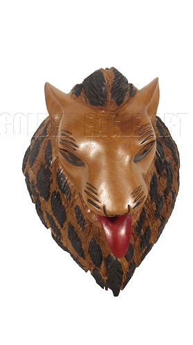 Wooden lion face mask