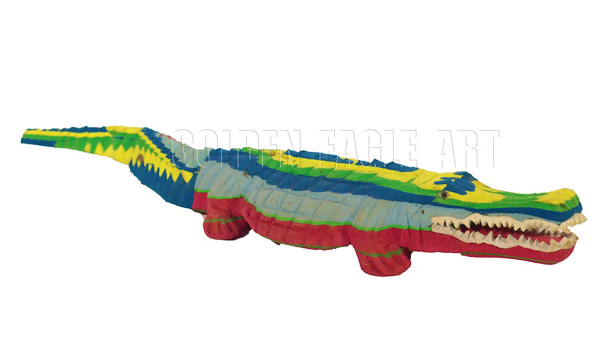 Recycled flipflop crocodile