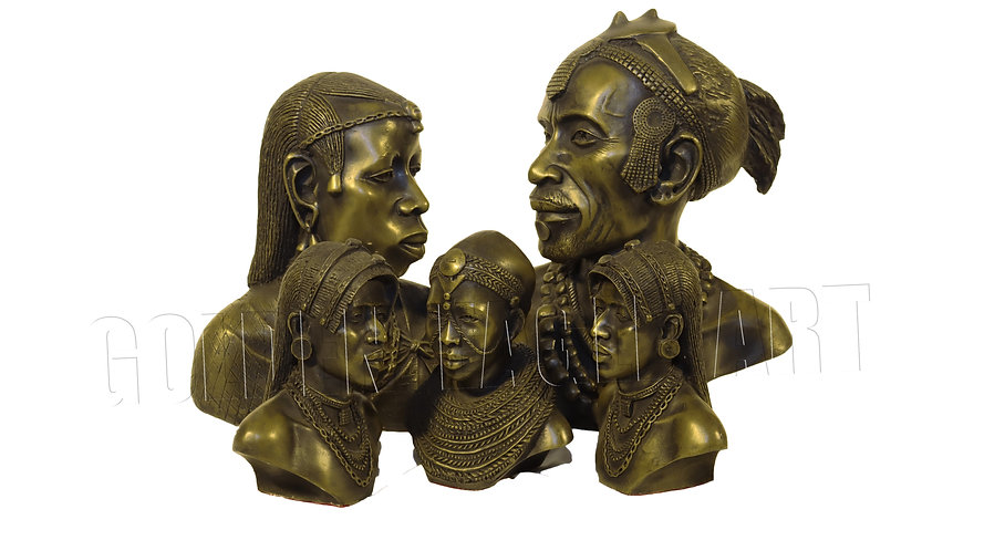 Assorted Casted bronze busts