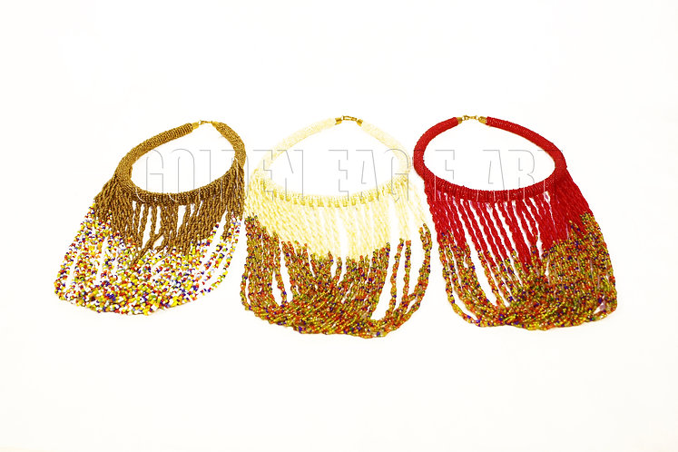 Assorted maasai bead necklaces