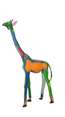 Recycled flipflop giraffe
