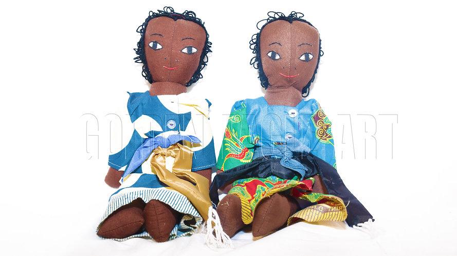 Fabric children dolls