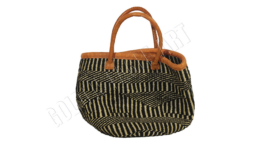 Short strap woolen sisal basket