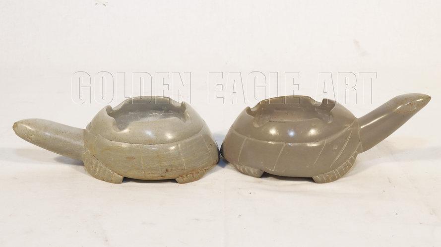 Soapstone tortoise ash tray