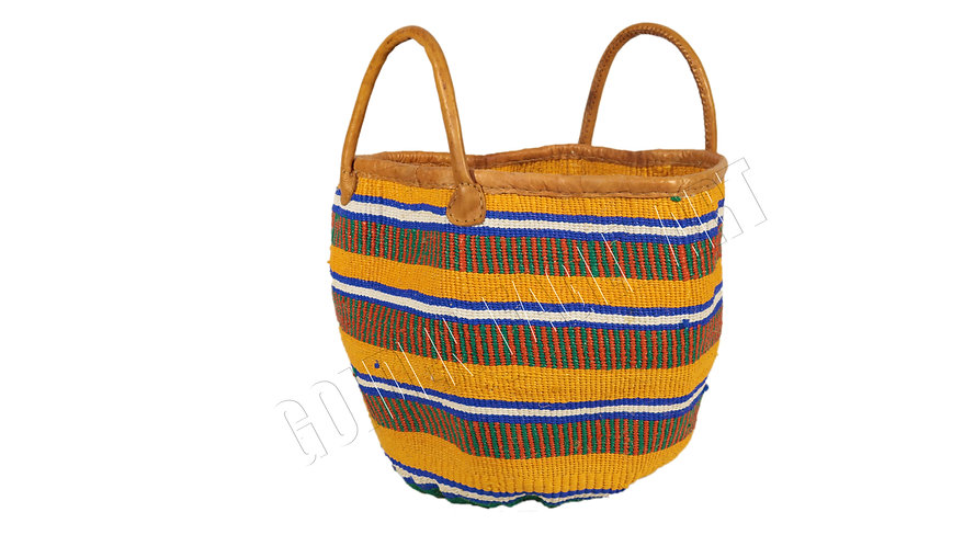 Recycled nylon shopping basket