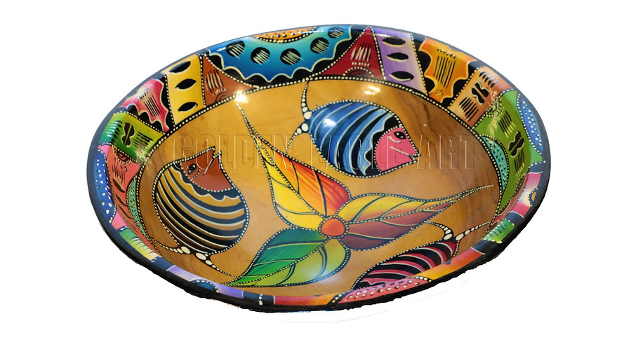 African heritage colored olive bowl