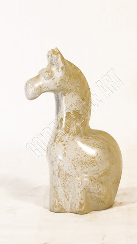 Soapstone carved abstract giraffe