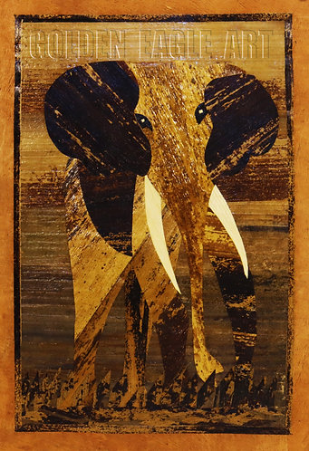 Elephant banana mosaic