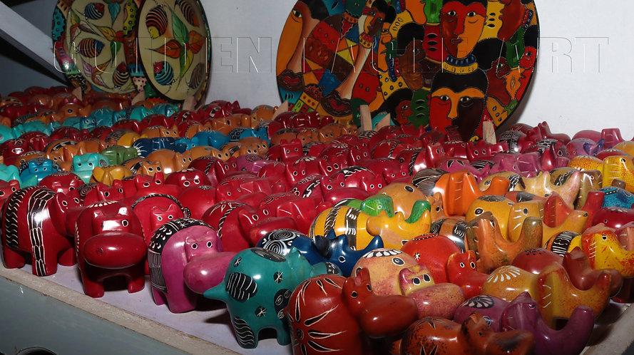 Assorted soapstone cartoon animals