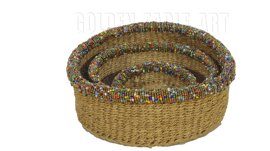 Beaded basket set