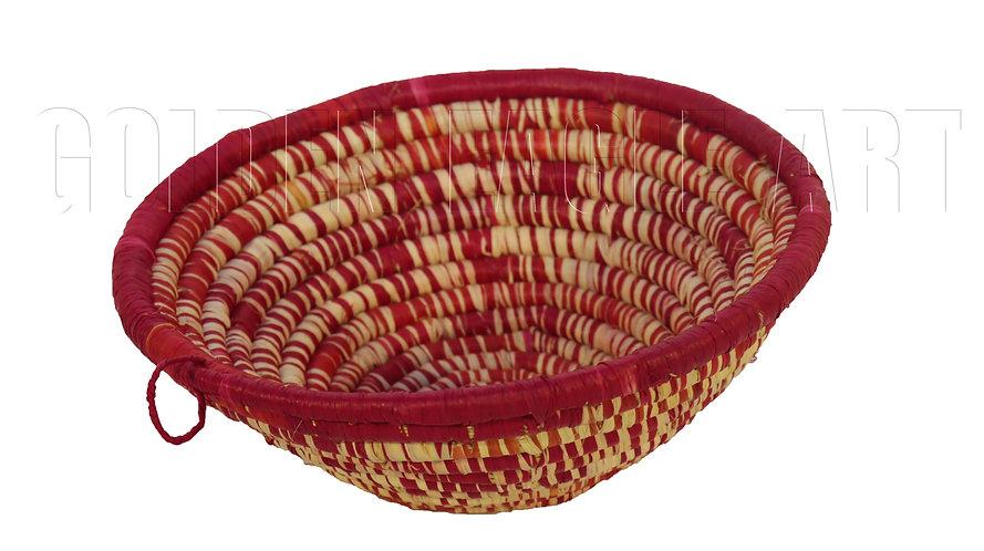 Raphia woven fruit baskets