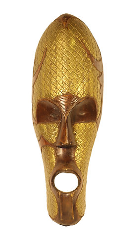 Brass decorated wealth mask