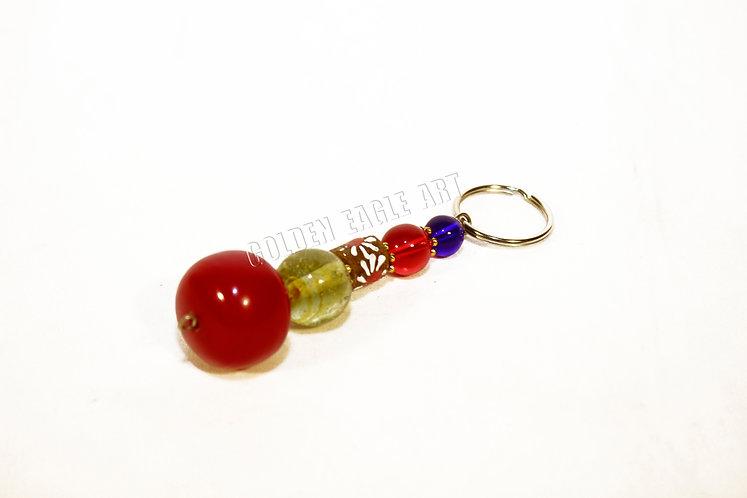 Glass bead amber key orders