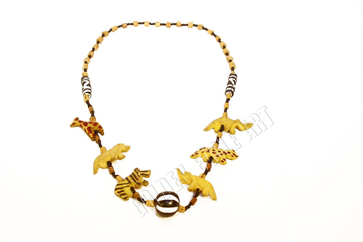Wooden animal zoo necklace