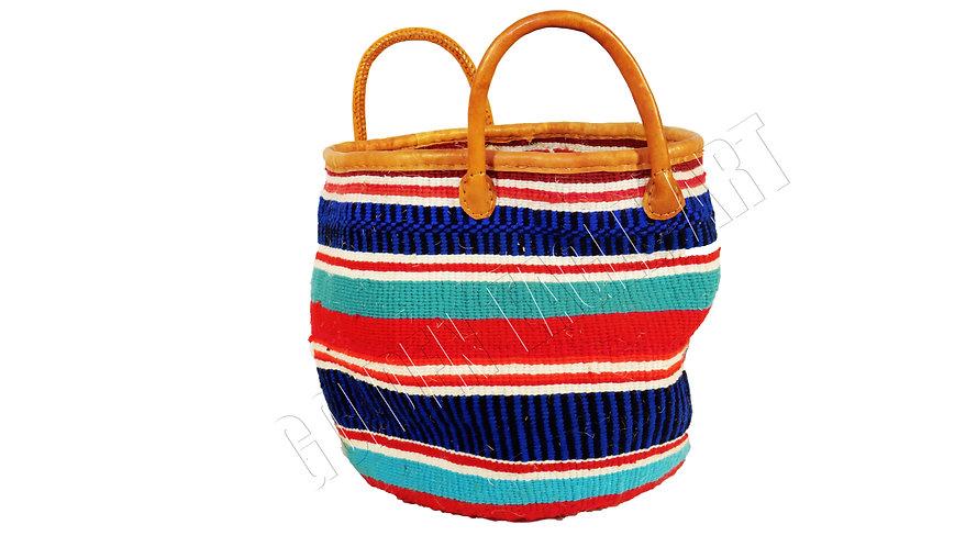Short strap woolen shopping basket