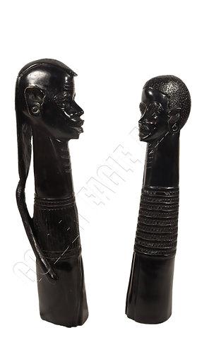 Ebony maasai neck busts